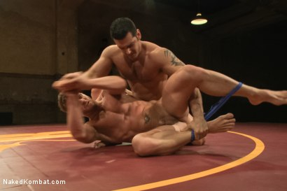 """Photo number 1 from Marcus """"Titan"""" Ruhl vs Jeremy """"Stonewall"""" Stevens - Muscled Oil Match! shot for Naked Kombat on Kink.com. Featuring Marcus Ruhl and Jeremy Stevens in hardcore BDSM & Fetish porn."""