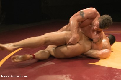 """Photo number 6 from Marcus """"Titan"""" Ruhl vs Jeremy """"Stonewall"""" Stevens - Muscled Oil Match! shot for Naked Kombat on Kink.com. Featuring Marcus Ruhl and Jeremy Stevens in hardcore BDSM & Fetish porn."""