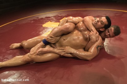 """Photo number 7 from Marcus """"Titan"""" Ruhl vs Jeremy """"Stonewall"""" Stevens - Muscled Oil Match! shot for Naked Kombat on Kink.com. Featuring Marcus Ruhl and Jeremy Stevens in hardcore BDSM & Fetish porn."""