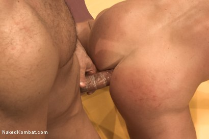 """Photo number 14 from Marcus """"Titan"""" Ruhl vs Jeremy """"Stonewall"""" Stevens - Muscled Oil Match! shot for Naked Kombat on Kink.com. Featuring Marcus Ruhl and Jeremy Stevens in hardcore BDSM & Fetish porn."""