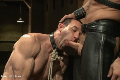 Photo number 3 from Turn That Frown Upside Down - Live Shoot shot for Bound Gods on Kink.com. Featuring Van Darkholme, Jason Miller, Alessio Romero and Jeremy Stevens in hardcore BDSM & Fetish porn.