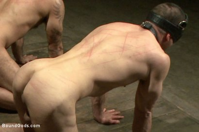 Photo number 9 from Turn That Frown Upside Down - Live Shoot shot for Bound Gods on Kink.com. Featuring Van Darkholme, Jason Miller, Alessio Romero and Jeremy Stevens in hardcore BDSM & Fetish porn.
