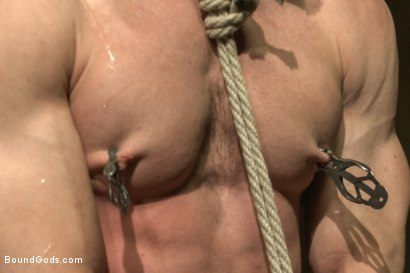 Photo number 4 from Turn That Frown Upside Down - Live Shoot shot for Bound Gods on Kink.com. Featuring Van Darkholme, Jason Miller, Alessio Romero and Jeremy Stevens in hardcore BDSM & Fetish porn.