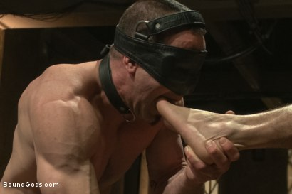 Photo number 7 from Turn That Frown Upside Down - Live Shoot shot for Bound Gods on Kink.com. Featuring Van Darkholme, Jason Miller, Alessio Romero and Jeremy Stevens in hardcore BDSM & Fetish porn.