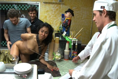 Photo number 7 from Bakery Disgrace shot for Public Disgrace on Kink.com. Featuring Yasmine de Leon and Xander Corvus in hardcore BDSM & Fetish porn.