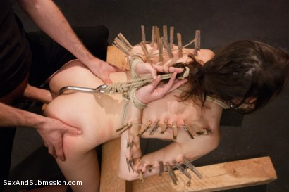 Photo number 9 from Fresh Meat Slave Slut shot for Sex And Submission on Kink.com. Featuring James Deen and Luna C. Kitsuen in hardcore BDSM & Fetish porn.