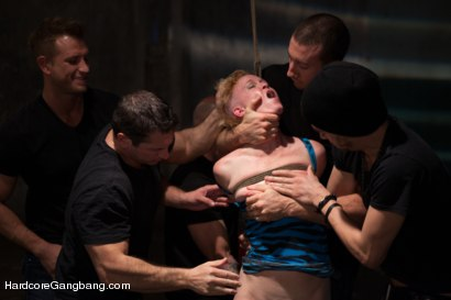 Photo number 6 from Tied up and Taken Down! shot for Hardcore Gangbang on Kink.com. Featuring Xander Corvus, Jordan Ash, Bill Bailey, John Strong, Astral Dust and Sasha Knox in hardcore BDSM & Fetish porn.