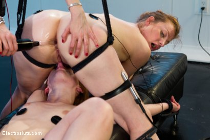 Photo number 14 from Ginger Skanks! <br/>An Electrosluts Feature shot for Electro Sluts on Kink.com. Featuring Claire Robbins, Lorelei Lee and Sovereign Syre in hardcore BDSM & Fetish porn.