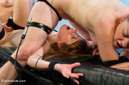 Photo number 15 from Ginger Skanks! <br/>An Electrosluts Feature shot for Electro Sluts on Kink.com. Featuring Claire Robbins, Lorelei Lee and Sovereign Syre in hardcore BDSM & Fetish porn.