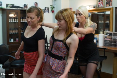 Photo number 1 from Ginger Skanks! <br/>An Electrosluts Feature shot for Electro Sluts on Kink.com. Featuring Claire Robbins, Lorelei Lee and Sovereign Syre in hardcore BDSM & Fetish porn.