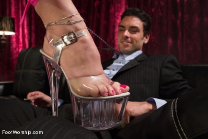 Photo number 3 from Foot Fetish In The Champagne Room  shot for Foot Worship on Kink.com. Featuring Ryan Driller and Sarah Vandella in hardcore BDSM & Fetish porn.