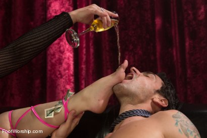 Photo number 4 from Foot Fetish In The Champagne Room  shot for Foot Worship on Kink.com. Featuring Ryan Driller and Sarah Vandella in hardcore BDSM & Fetish porn.