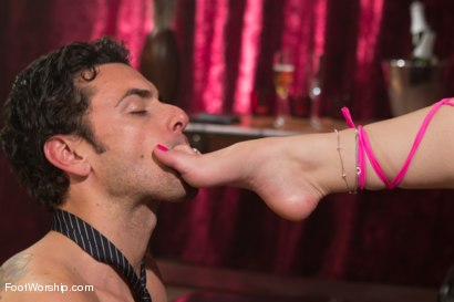 Photo number 5 from Foot Fetish In The Champagne Room  shot for Foot Worship on Kink.com. Featuring Ryan Driller and Sarah Vandella in hardcore BDSM & Fetish porn.