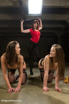 Photo number 1 from Two lingerie models get punished and fucked by Maitresse Madeline shot for Whipped Ass on Kink.com. Featuring Maitresse Madeline Marlowe , Dani Daniels and Anna Morna in hardcore BDSM & Fetish porn.