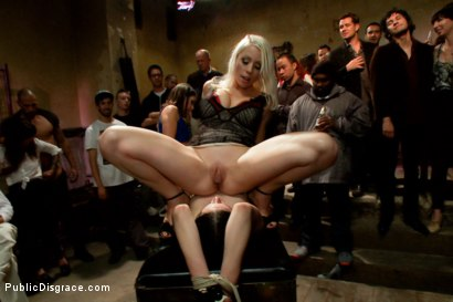 Photo number 9 from THE LAST LAUGH: Audience of 70 Humiliates Juliette March, Giggling Tight Bodied Whore!! shot for Public Disgrace on Kink.com. Featuring Lorelei Lee, Juliette March, Karlo Karrera, Mickey Mod and Mia Gold in hardcore BDSM & Fetish porn.