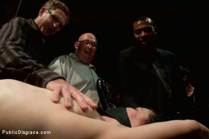 Photo number 13 from THE LAST LAUGH: Audience of 70 Humiliates Juliette March, Giggling Tight Bodied Whore!! shot for Public Disgrace on Kink.com. Featuring Lorelei Lee, Juliette March, Karlo Karrera, Mickey Mod and Mia Gold in hardcore BDSM & Fetish porn.