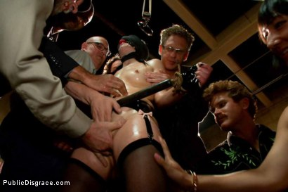 Photo number 15 from THE LAST LAUGH: Audience of 70 Humiliates Juliette March, Giggling Tight Bodied Whore!! shot for Public Disgrace on Kink.com. Featuring Lorelei Lee, Juliette March, Karlo Karrera, Mickey Mod and Mia Gold in hardcore BDSM & Fetish porn.