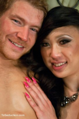 Photo number 15 from TS Venus and her Giant Cum Load -  Seducing Her Body Guard shot for TS Seduction on Kink.com. Featuring Alex Adams and Venus Lux in hardcore BDSM & Fetish porn.