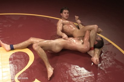 "Photo number 6 from Cameron ""The Kin-Killer-Cade"" vs Vance ""The Vice"" Crawford - Oil Match shot for Naked Kombat on Kink.com. Featuring Cameron Kincade and Vance Crawford in hardcore BDSM & Fetish porn."