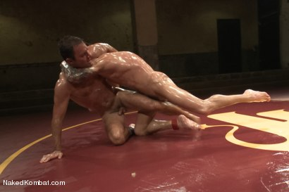 "Photo number 8 from Cameron ""The Kin-Killer-Cade"" vs Vance ""The Vice"" Crawford - Oil Match shot for Naked Kombat on Kink.com. Featuring Cameron Kincade and Vance Crawford in hardcore BDSM & Fetish porn."