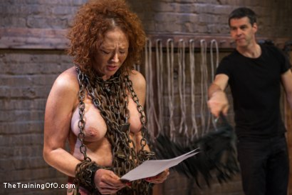 Photo number 3 from Training of a Party Girl, Day Three shot for The Training Of O on Kink.com. Featuring Audrey Hollander and Wolf Jenner in hardcore BDSM & Fetish porn.