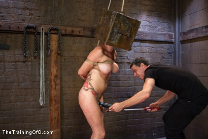 Photo number 5 from Training of a Party Girl, Day Three shot for The Training Of O on Kink.com. Featuring Audrey Hollander and Wolf Jenner in hardcore BDSM & Fetish porn.