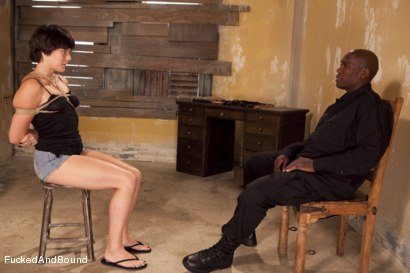 Photo number 2 from The Hard Way shot for Fucked and Bound on Kink.com. Featuring Jack Hammer and Alice Kingsnorth in hardcore BDSM & Fetish porn.