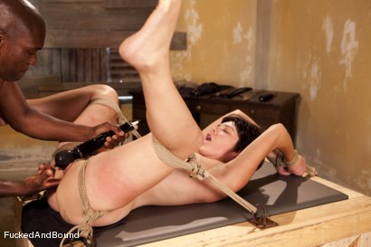Photo number 9 from The Hard Way shot for Fucked and Bound on Kink.com. Featuring Jack Hammer and Alice Kingsnorth in hardcore BDSM & Fetish porn.