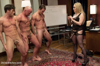 Photo number 5 from The Divine Bitches Corporation takes over LIVE!! shot for Divine Bitches on Kink.com. Featuring Cameron Kincade, Aiden Starr, Maitresse Madeline Marlowe , Chad Rock and Lance Hart in hardcore BDSM & Fetish porn.