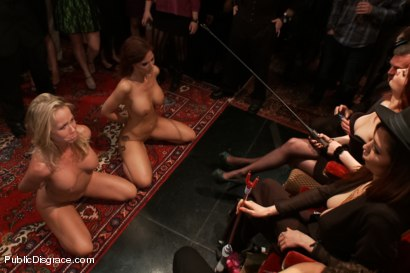 Photo number 10 from Happy Birthday Princess Donna!! BOW TO THE CATTLE PROD!!! (Part One) shot for Public Disgrace on Kink.com. Featuring Syren de Mer, Xander Corvus, Simone Sonay, Maitresse Madeline Marlowe  and Princess Donna Dolore in hardcore BDSM & Fetish porn.