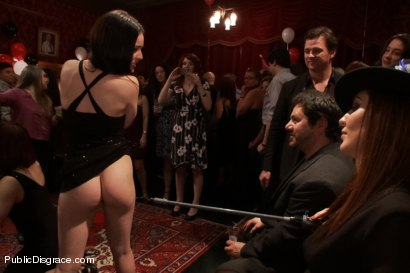 Photo number 6 from Happy Birthday Princess Donna!! BOW TO THE CATTLE PROD!!! (Part One) shot for Public Disgrace on Kink.com. Featuring Syren de Mer, Xander Corvus, Simone Sonay, Maitresse Madeline Marlowe  and Princess Donna Dolore in hardcore BDSM & Fetish porn.