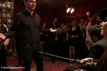 Photo number 8 from Happy Birthday Princess Donna!! BOW TO THE CATTLE PROD!!! (Part One) shot for Public Disgrace on Kink.com. Featuring Syren de Mer, Xander Corvus, Simone Sonay, Maitresse Madeline Marlowe  and Princess Donna Dolore in hardcore BDSM & Fetish porn.