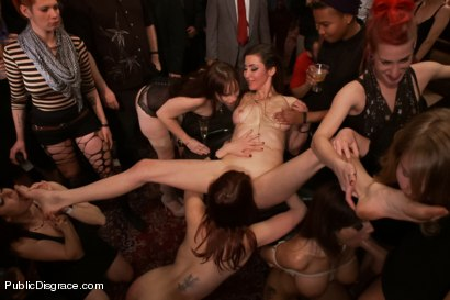 Photo number 4 from Happy Birthday Princess Donna!! FILTHY ANAL FUCK FEST (Part Two) shot for Public Disgrace on Kink.com. Featuring Syren de Mer, Xander Corvus, Simone Sonay, Maitresse Madeline Marlowe  and Princess Donna Dolore in hardcore BDSM & Fetish porn.