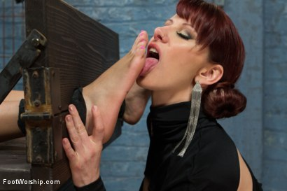 Photo number 3 from 18 Year Old Foot Tortured, Foot Tickle, Foot Job Slut! shot for Foot Worship on Kink.com. Featuring Maitresse Madeline Marlowe , Aria Arial  and Xander Corvus in hardcore BDSM & Fetish porn.