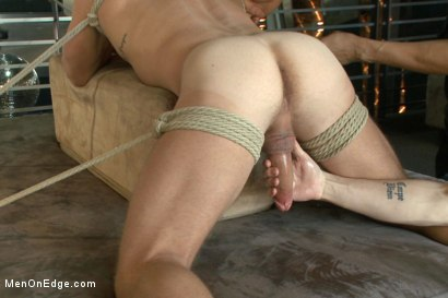 Photo number 12 from Muscled Bartender Gets Taken Down, Bound and Edged  shot for Men On Edge on Kink.com. Featuring Landon Conrad in hardcore BDSM & Fetish porn.