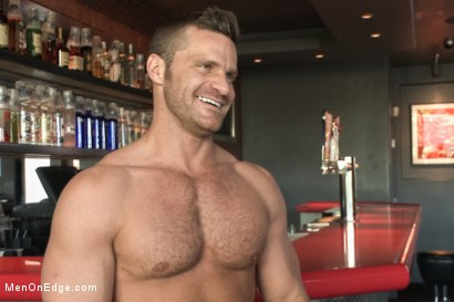 Photo number 15 from Muscled Bartender Gets Taken Down, Bound and Edged  shot for Men On Edge on Kink.com. Featuring Landon Conrad in hardcore BDSM & Fetish porn.