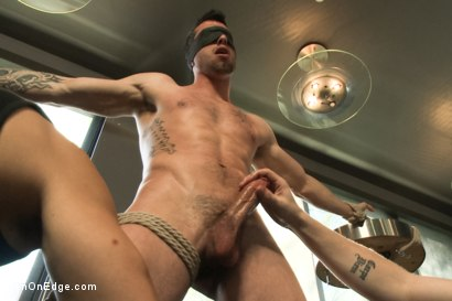 Photo number 8 from Ripped Straight Bartender shot for Men On Edge on Kink.com. Featuring Casey More in hardcore BDSM & Fetish porn.