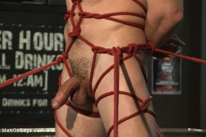 Photo number 10 from Ripped Straight Bartender shot for Men On Edge on Kink.com. Featuring Casey More in hardcore BDSM & Fetish porn.