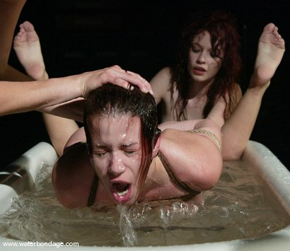 Photo number 10 from Justine Joli and Sarah Blake shot for Water Bondage on Kink.com. Featuring Justine Joli and Sarah Blake in hardcore BDSM & Fetish porn.