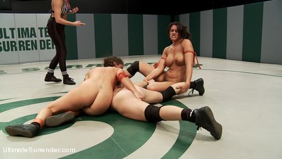 Photo number 10 from Match 1, Round 2 Nightmare vs Dragon shot for Ultimate Surrender on Kink.com. Featuring Penny Barber, Serena Blair, Syd Blakovich, DragonLily, Isis Love and Bella Wilde in hardcore BDSM & Fetish porn.