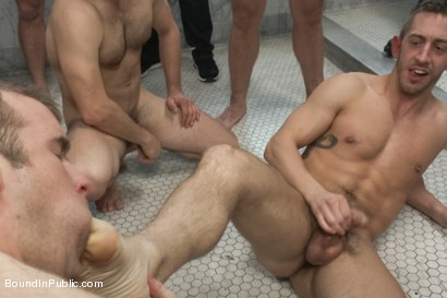 Photo number 11 from Ripped stud is made to play spin the bottle BIP style shot for Bound in Public on Kink.com. Featuring Connor Patricks, Jessie Colter and Bryan Cole in hardcore BDSM & Fetish porn.