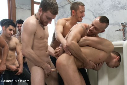 Photo number 1 from Ripped stud is made to play spin the bottle BIP style shot for Bound in Public on Kink.com. Featuring Connor Patricks, Jessie Colter and Bryan Cole in hardcore BDSM & Fetish porn.