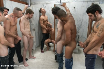 Photo number 3 from Ripped stud is made to play spin the bottle BIP style shot for Bound in Public on Kink.com. Featuring Connor Patricks, Jessie Colter and Bryan Cole in hardcore BDSM & Fetish porn.