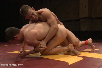 "Photo number 7 from Bryan Cole ""The Constrictor"" vs. Hayden ""The Swank"" Richards shot for Naked Kombat on Kink.com. Featuring Bryan Cole and Hayden Richards in hardcore BDSM & Fetish porn."