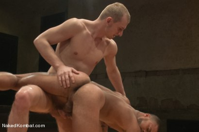 "Photo number 12 from Damian ""The Decimator"" Taylor vs Randall ""The Rock"" O'Reilly shot for Naked Kombat on Kink.com. Featuring Randall O'Reilly and Damian Taylor in hardcore BDSM & Fetish porn."