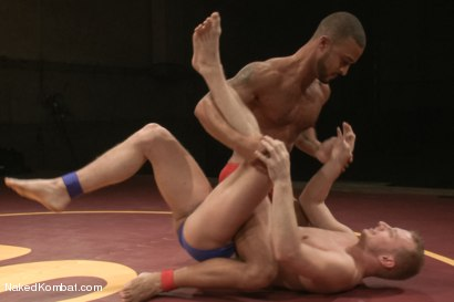 "Photo number 1 from Damian ""The Decimator"" Taylor vs Randall ""The Rock"" O'Reilly shot for Naked Kombat on Kink.com. Featuring Randall O'Reilly and Damian Taylor in hardcore BDSM & Fetish porn."