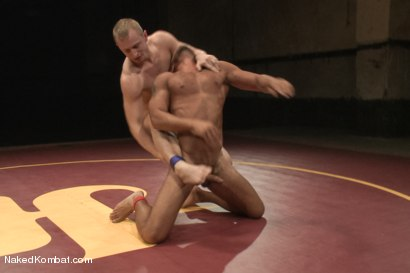"Photo number 8 from Damian ""The Decimator"" Taylor vs Randall ""The Rock"" O'Reilly shot for Naked Kombat on Kink.com. Featuring Randall O'Reilly and Damian Taylor in hardcore BDSM & Fetish porn."