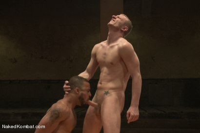 """Photo number 10 from Damian """"The Decimator"""" Taylor vs Randall """"The Rock"""" O'Reilly shot for Naked Kombat on Kink.com. Featuring Randall O'Reilly and Damian Taylor in hardcore BDSM & Fetish porn."""