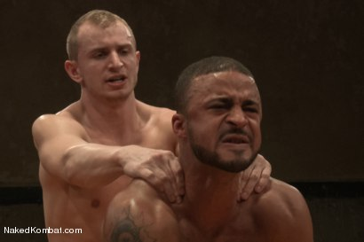 """Photo number 14 from Damian """"The Decimator"""" Taylor vs Randall """"The Rock"""" O'Reilly shot for Naked Kombat on Kink.com. Featuring Randall O'Reilly and Damian Taylor in hardcore BDSM & Fetish porn."""