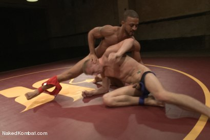 """Photo number 3 from Damian """"The Decimator"""" Taylor vs Randall """"The Rock"""" O'Reilly shot for Naked Kombat on Kink.com. Featuring Randall O'Reilly and Damian Taylor in hardcore BDSM & Fetish porn."""